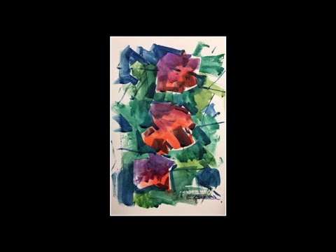 Loose brush watercolor, Abstract art, Flowers, Painting techniques, Enrique Zaldivar