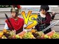 Spartaanse Wapens Vs Fruit Met Broertje!