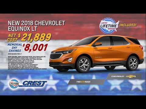 Memorial Day Sales Event At Crest Chevrolet In San Bernardino CA