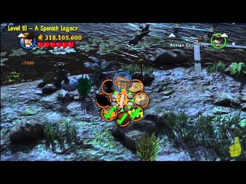 Lego Pirates of the Caribbean: Level 19 A Spanish Legacy - FREE PLAY (Minikits and Compass) - HTG