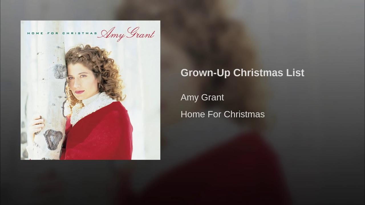 006 AMY GRANT Grown Up Christmas List - YouTube