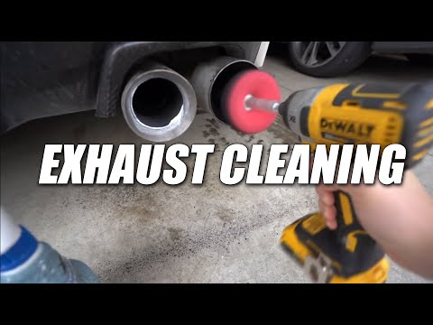 😃 How to clean and polish your Exhaust Tips (Day # 11)