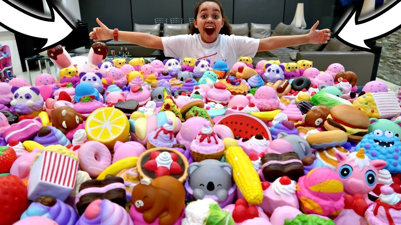 MY Squishy Toys Collection! MEGA GIVEAWAY Toys AndMe - YouTube