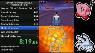 Cartoon Network Racing (DS): Time Trial Alle Strecken in 16:53.99 (IGT)