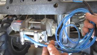 DIY How to Replace Winch Cable With Synthetic Rope - AmSteel Blue ATV Plow Rope Replacement