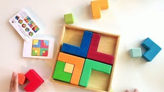 Logic Wooden Puzzles for Kids | Grimms Puzzle Square