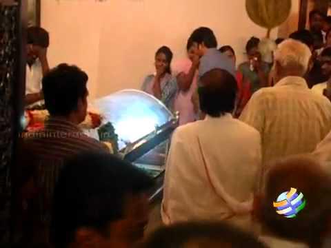 Last Respects to Ilayaraja Wife