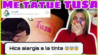 Baixar Me Tatué Tusa y Karol G vio mi tatuaje 😱😱😱 EL EFECTO TUSA