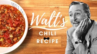 Walt&#39s Chili Recipe from Disneyland Carnation Cafe Main Street USA