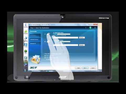 Acer Iconia Tab W500 - Wie wird der Backup Manager benutzt