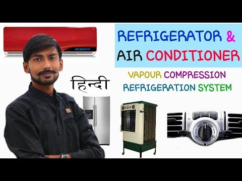 [HINDI] REFRIGERATOR ~ AIR CONDITIONER ~ VAPOUR COMPRESSION REFRIGERATION SYSTEM ~ WORKING & DETAILS