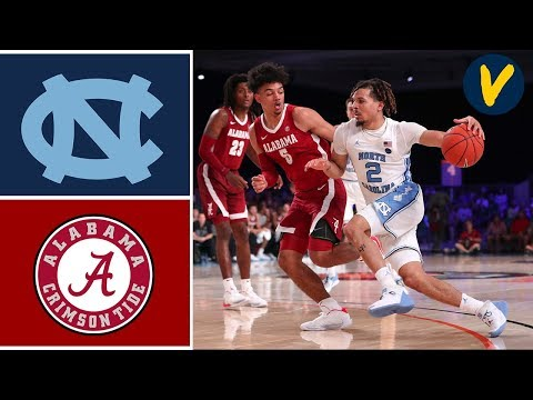 2019 College Basketball Alabama vs #6 North Carolina Highlights