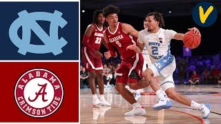 2019 College Basketball Alabama vs #6 North Carolina Highlights