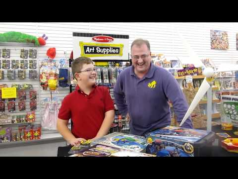 Family laughs at Bee Active Toys at Tanger Outlets in Tuscola, Illinois