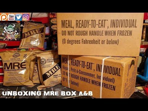 Unboxing MRE Box A & B Menu 1-24