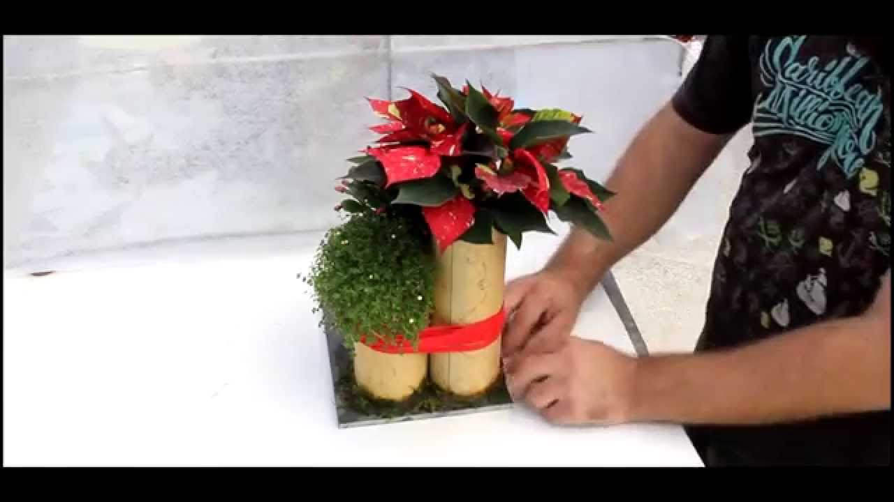 Centro navide o con bamb youtube - Centro navideno de mesa ...