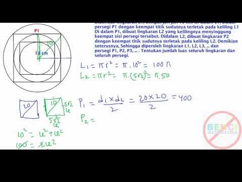 Luas Lingkaran Dan Persegi Tak Hingga Deret Geometri Tak Hingga Request Youtube