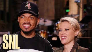 Chance the Host and Chance the Musical Guest Meet Kate McKinnon - SNL