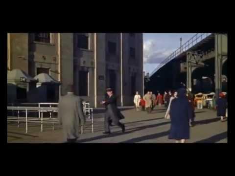 Jerome Ave el train arrives at Yankee Stadium 1950's