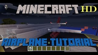 Minecraft Tutorial: How to Build an Airplane or Jet -- Full HD