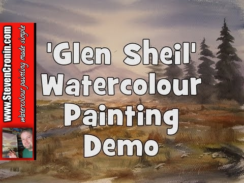 Glen Sheil Watercolour Painting Demo