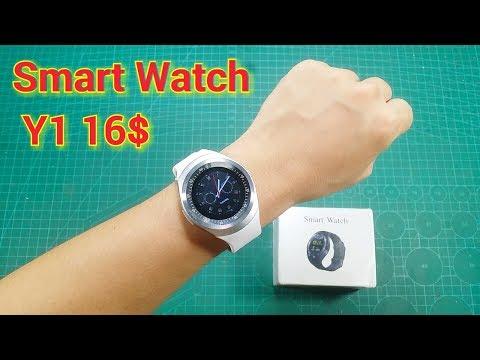 Trên Tay Đồng Hồ Điện Thoại Thông Minh Giá Rẻ Smart Watch Y1