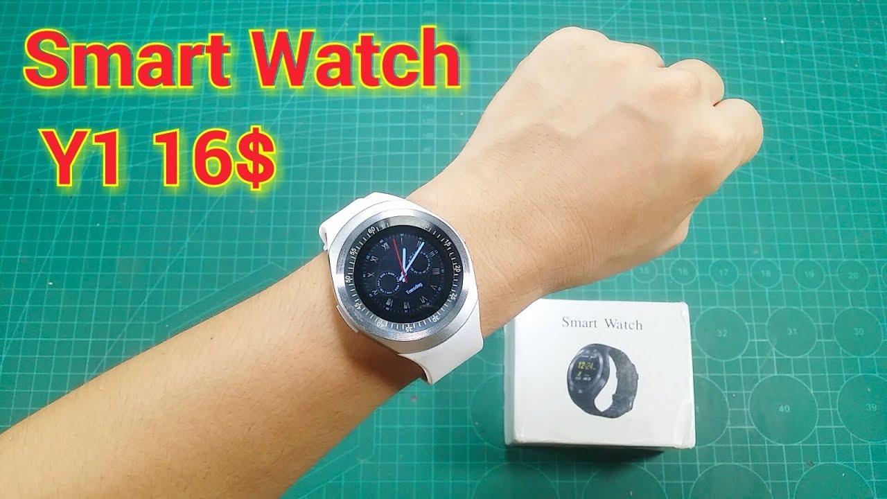 Trên Tay Đồng Hồ Điện Thoại Thông Minh Giá Rẻ Smart Watch Y1 - YouTube