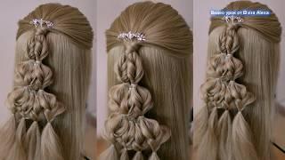 Красивая коса без плетения  Причёска для девочки  Подробный видео урок  Hair tutorial
