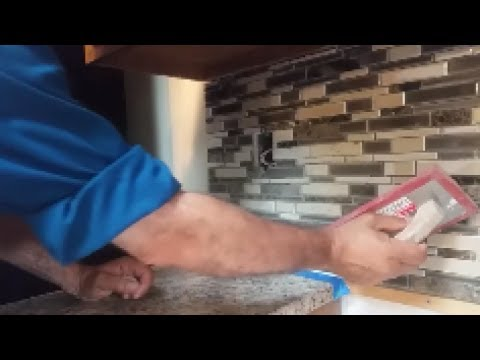 How To Grout A Kitchen Mosaic Backsplash -Part 1 -Step By Step - D.I.Y