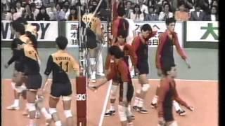 黒鷲旗 第37回(1988年)全日本バレーボール男子 決勝 新日鉄vs法政大学 第3セット