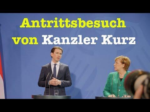 Antrittsbesuch: Kanzler Sebastian Kurz bei Kanzlerin Angela Merkel - PK vom 17. Januar 2018