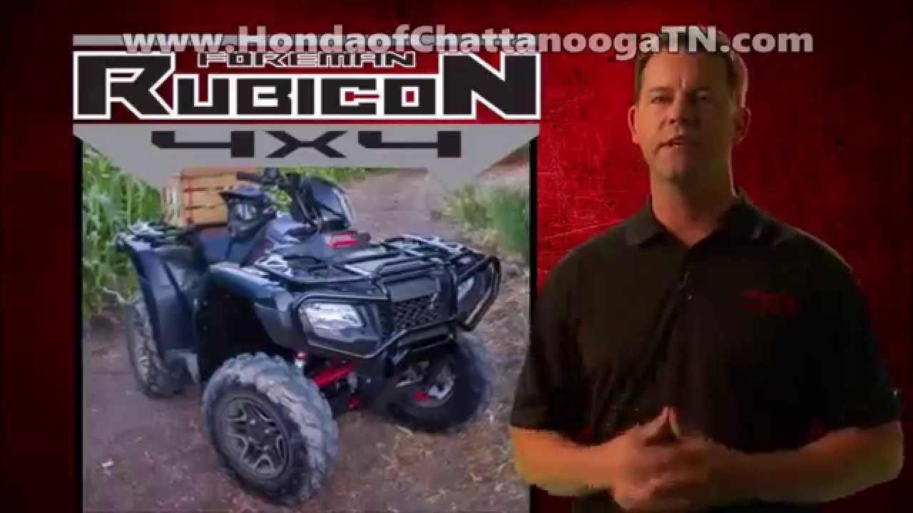 2016 Foreman Rubicon 500 ATV Review / Specs & Changes + MORE! Honda of  Chattanooga 4x4 Four Wheelers