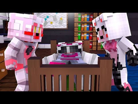 Family Reunion! Taking Care of Daddy Funtime Foxy (Minecraft Fnaf Daycare)