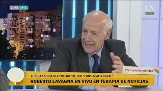 Cruce: Lavagna le responde a Tinelli, que lo criticó por negarse a una interna