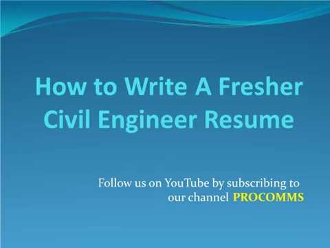 How To Write Fresher Civil Engineer Resume Fresher Civil