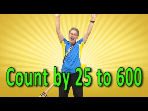 Skip Counting  25 to 600  Count  25  Counting Song  Skip Counting Song  Jack Hartmann