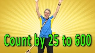 Skip Counting by 25 to 600   Count By 25   Counting Song   Skip Counting Song   Jack Hartmann