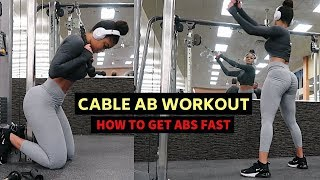 INTENSE CABLE ONLY AB WORKOUT | GET ABS FAST!!!