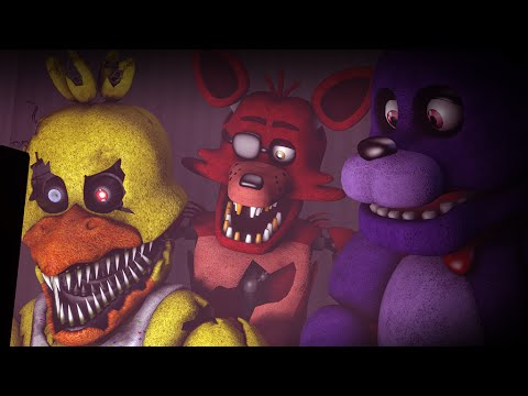 [SFM FNAF] Nightmare Chica Bonnie and Foxy React to FNAF World Teaser Trailer