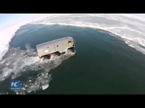 RAW: Russian vehicle passes test for planned North Pole drive
