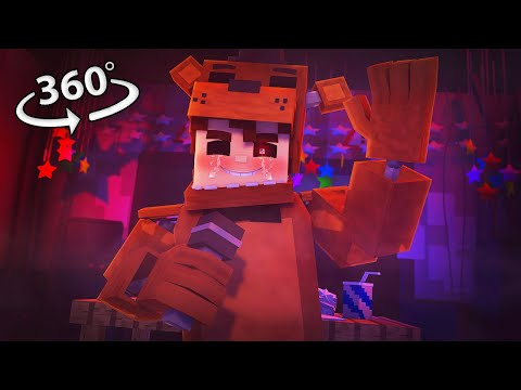 360° Five Nights At Freddy's – SHADOW FREDDY VISION – Minecraft 360° VR Video