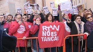 Espagne: nouvelle manifestation des ex-employés de la télévision publique de Valence