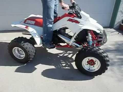 89 Honda Trx 250r Running Avi Youtube