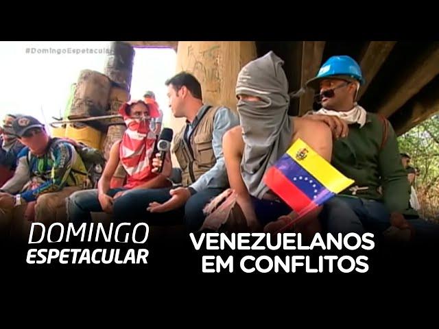 Equipe da Record TV mostra drama dos venezuelanos que sofrem com conflitos