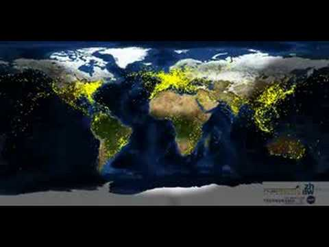Air Traffic Map Live.Airtraffic Worldwide Youtube