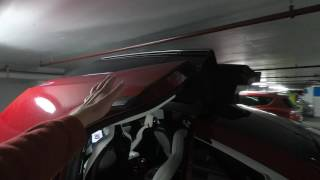 A close call with the Tesla Model X doors in a parking garage
