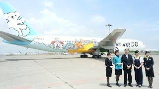 news air do 20周年特別塗装機 報道お披露目 boeing767 300 ja602a ニュース 羽田空港