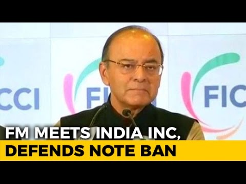 On Notes Ban, Arun Jaitley vs Anand Sharma At Industrial Body (FICCI) Meet