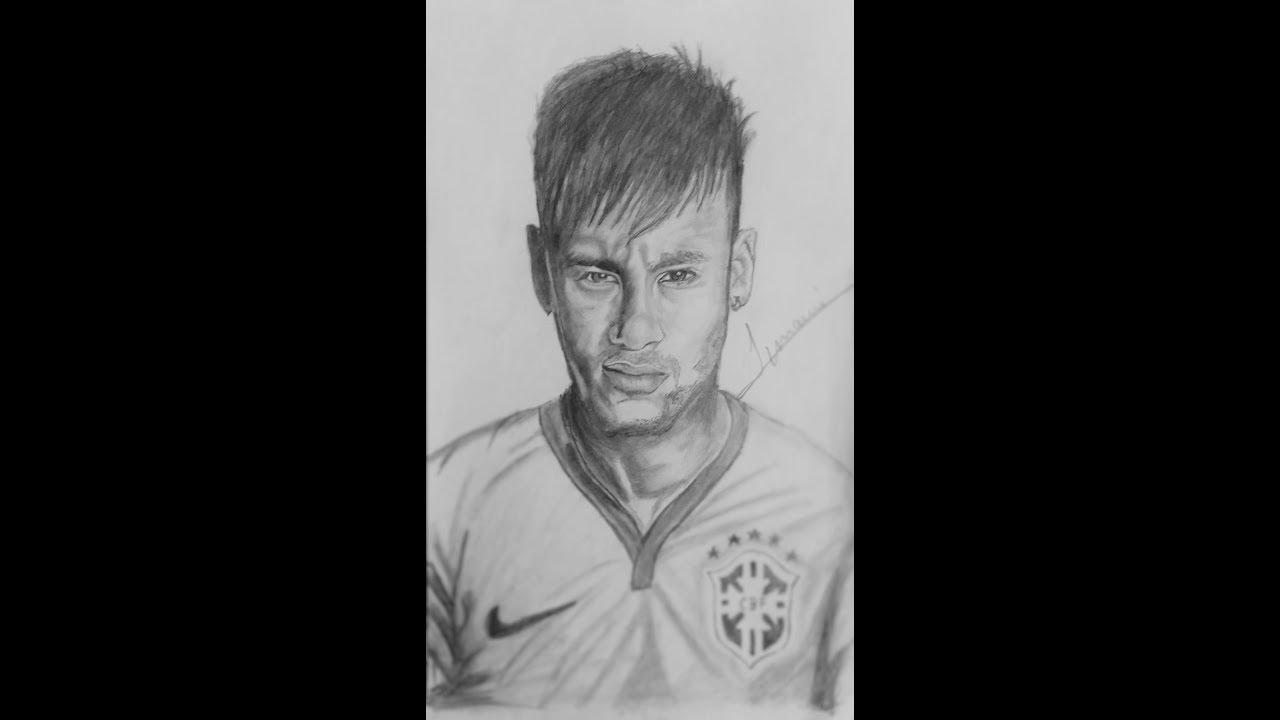 Drawing neymar jr timelapse drawing celebrity sketches