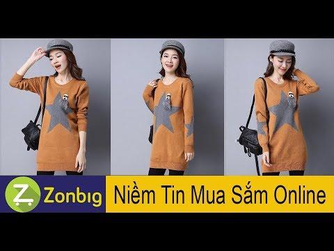 [Zonbig.com] – Áo Len Ngôi Sao Dáng Dài